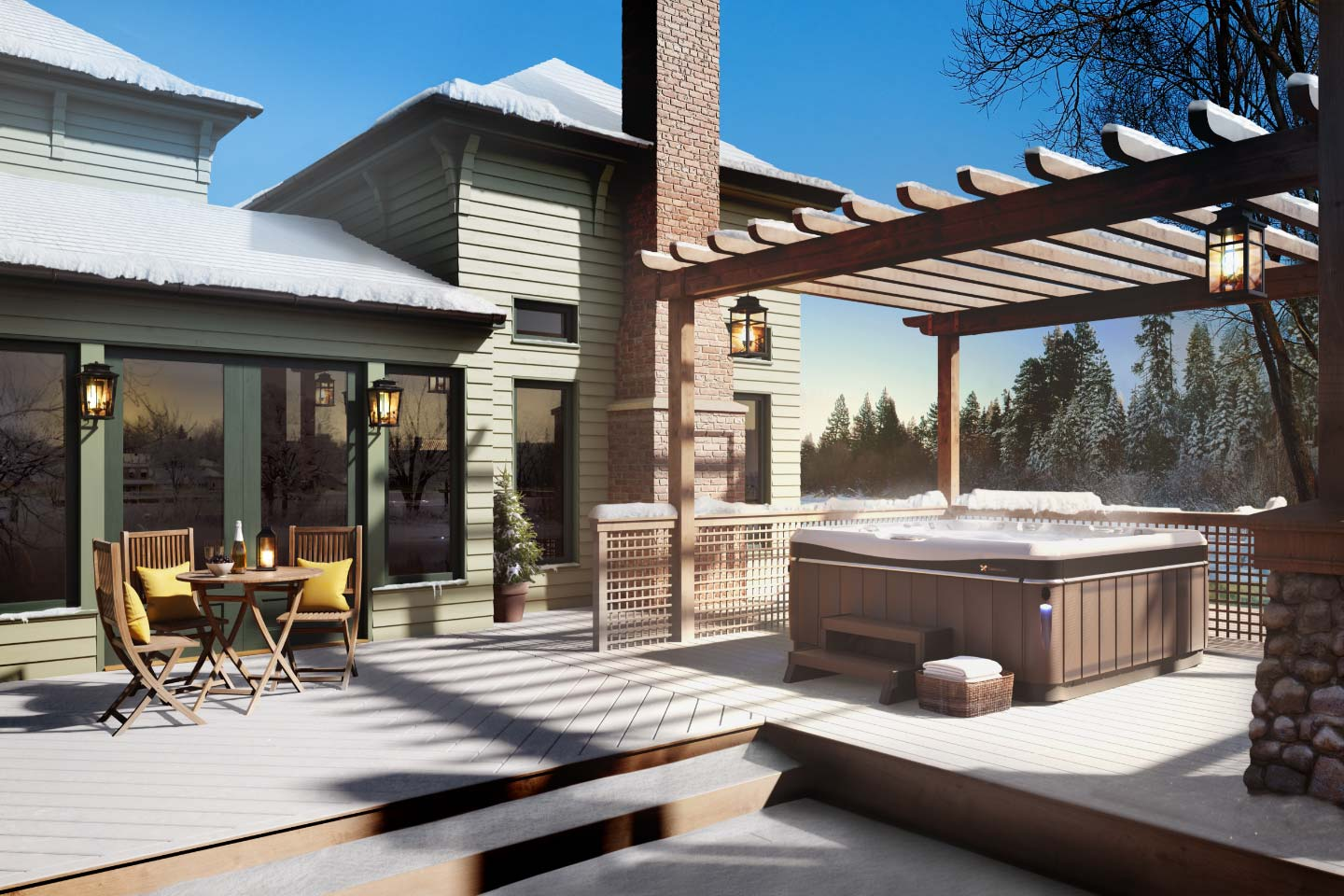 Hot Tub Placement Planning And Site Prepartion Tips Mainely Tubs 2020